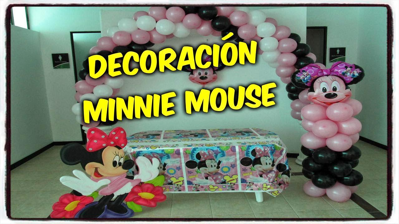 Decoraci n fiesta minnie mouse fiestas infantiles y for Decoracion minnie mouse