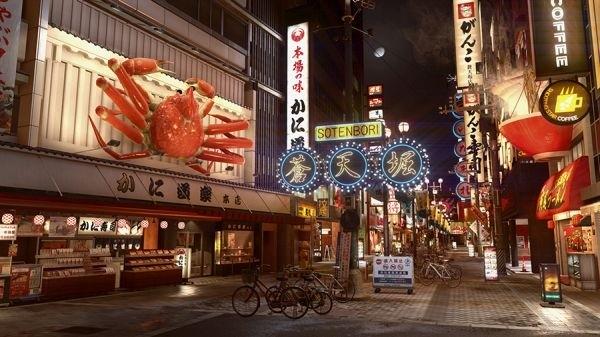 إستعراض بالصور لبيئة اللعب في منطقة Sotenbori لإصدار Yakuza Kiwami 2