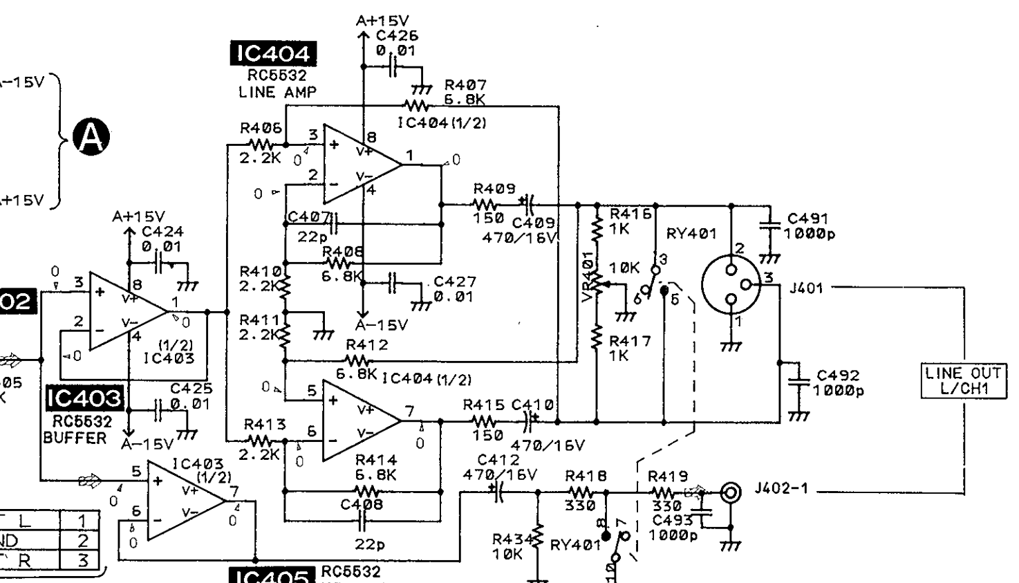 Un Balanced Audio Schematic