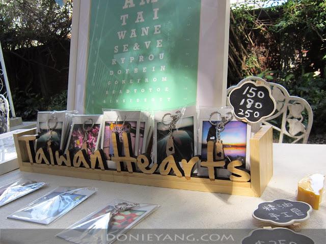 Taiwan Hearts 竹製招牌 市集擺攤用
