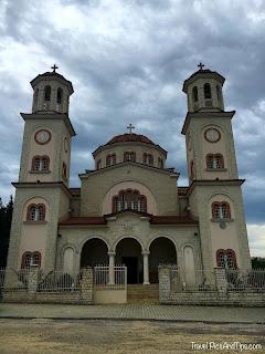Eglise dans la quartier de Mangalem, a Bérat, en Albanie