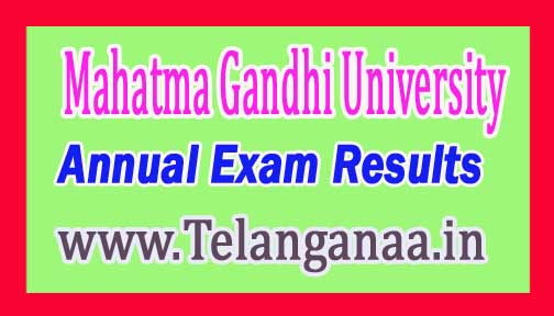 MGU B.Ed 2nd Sem Annual Exam Results Sept/Oct-2016 Mahatma Gandhi University
