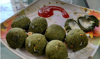 airfryer CHEESE SPINACH BALLS