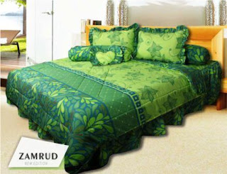 Sprei dan bed cover my love motif Zamrud