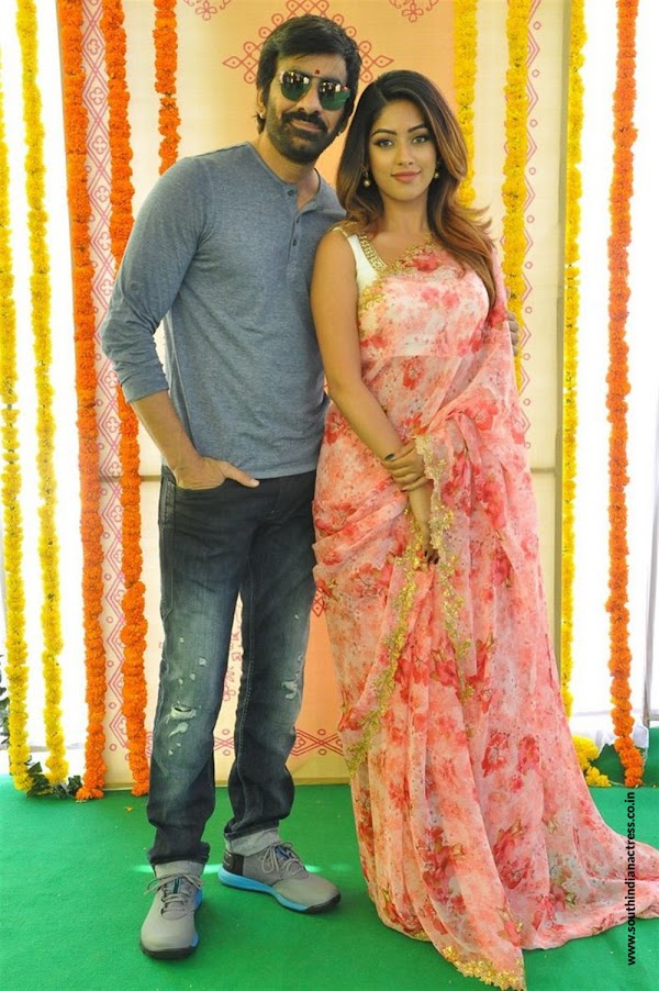 Ravi jeja, Anu Emmanuel stills at Amar Akbar Anthony Movie Launch,srinu vaitla