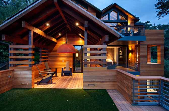 15 best wooden house design minimalist classic and simple for Simple modern wood house