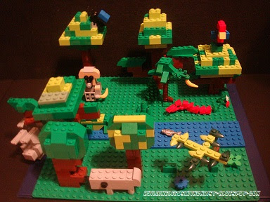 South America Rainforest Lego Creation, Cool Lego Creations