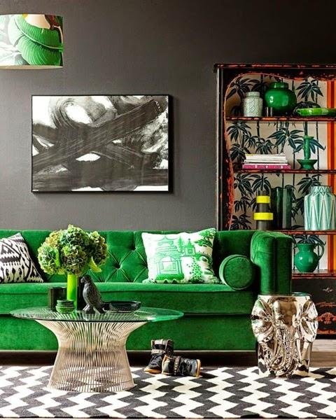 inspiracje w moim mieszkaniu zielona kanapa do salonu. Black Bedroom Furniture Sets. Home Design Ideas