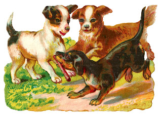 dogs puppy animal digital clipart download vintage image free craft