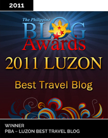 Philippine Blog Awards Best Travel Blog 2011 Winner