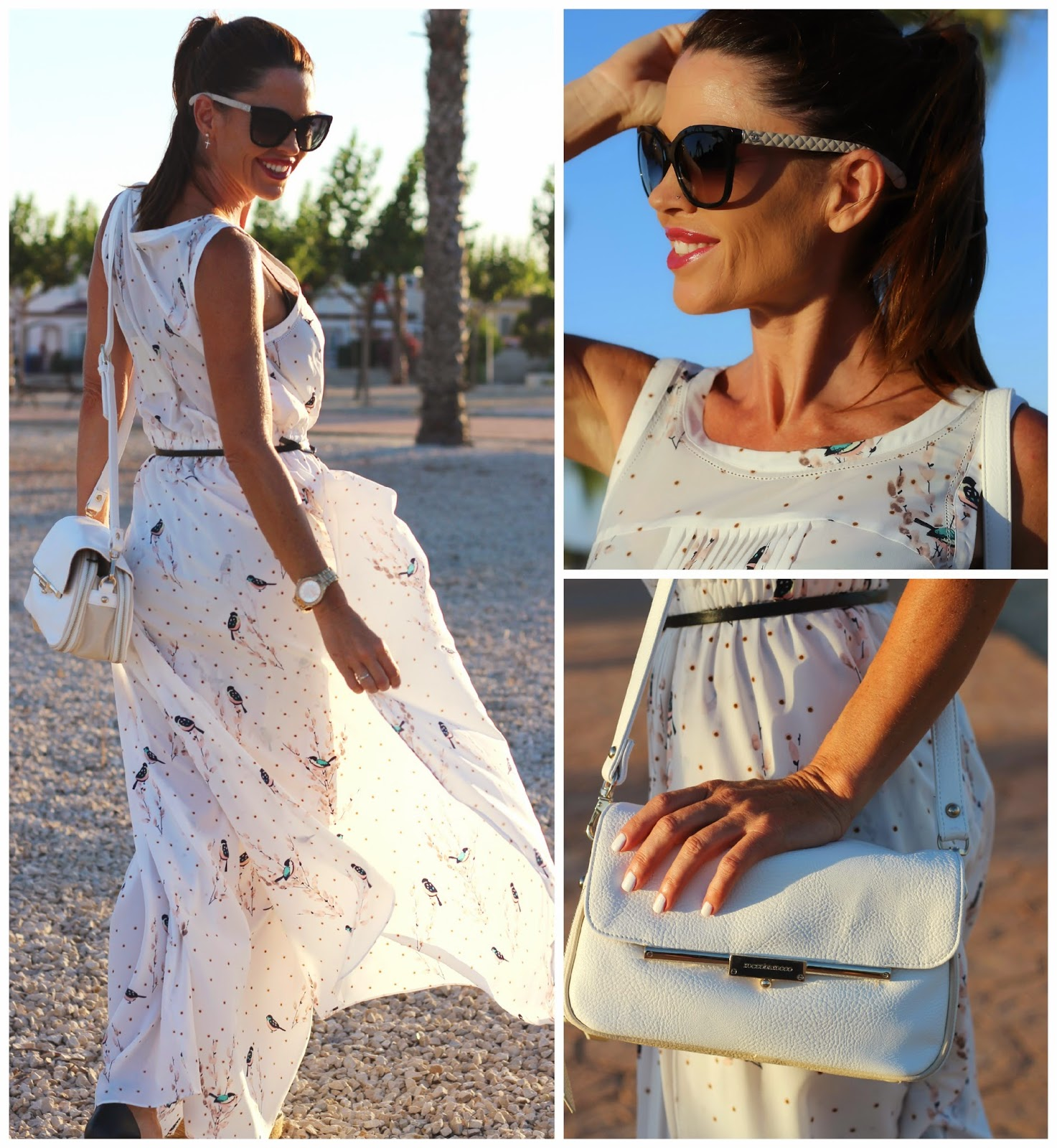 Indi&Cold - Bless Guardamar - vestido blanco - Chanel Sunnies