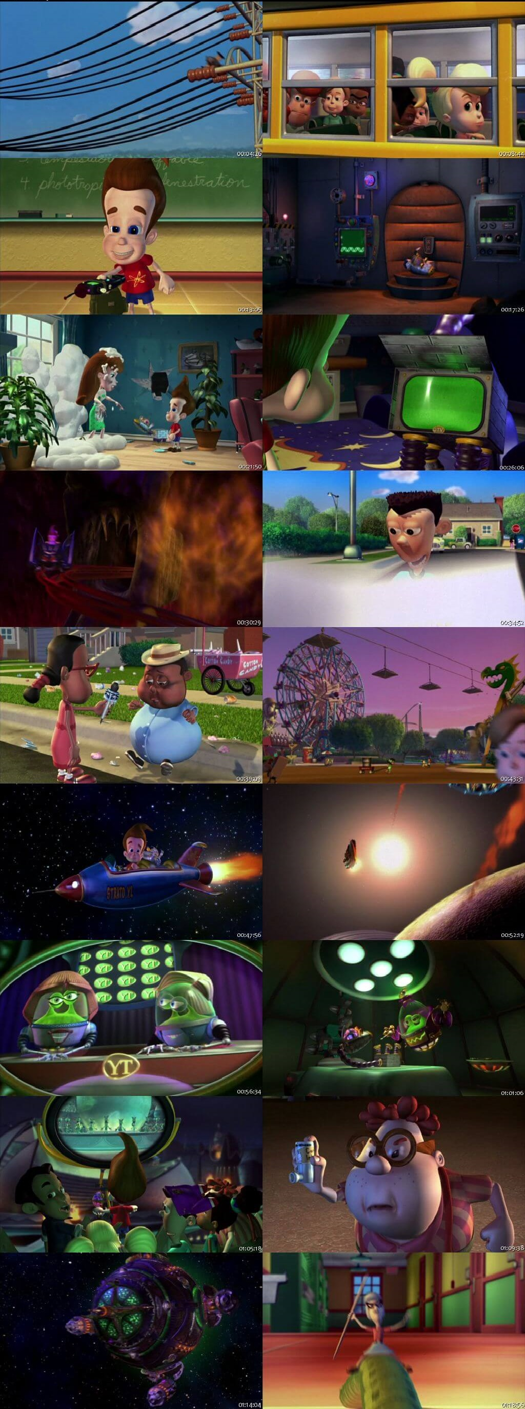 Screen Shot Of Jimmy Neutron: Boy Genius 2001 In Hindi English Dual Audio Bluray