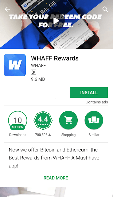 Earn Money From WHAFF Rewards Min $10 Every Day Use Invite Code- HF97253