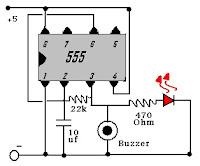 تصميم دائرة تحذير داخل الجهاز ثانوية جهاز انذار