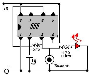 دائرة تحذير تستخدم في معظم أجهزة الأنذار