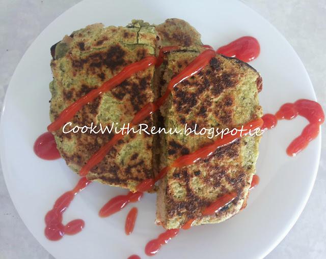 Oats & Green Dal Toast