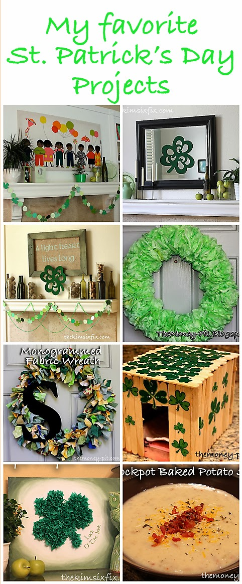Some Great St Patricks Crafts and Decor from TheKimSixFix.com