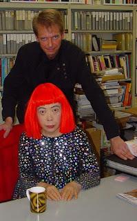 Klaus Guingand and Yayoi Kusama - 2005 - Tokyo - Japon. Yayoi Kusama studio