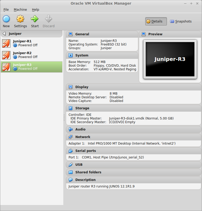 My Home Lab: Installing JunOS Olive12 1 in VirtualBox on Linux