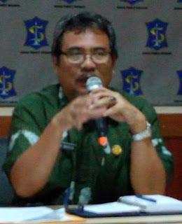 Sekretaris Dinas Kebersihan dan Pertamanan (DKP) Kota Surabaya, Aditya Wasita