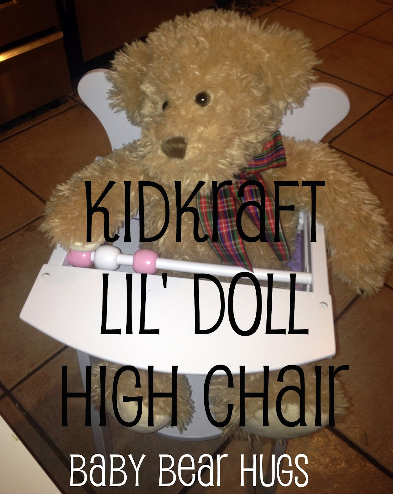 Kidkraft Doll High Chair Ultralight Backpacking Baby Bear Hugs Great Holiday Gift Lil 39