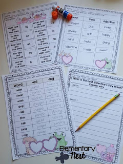 February Worksheets- February Activities and FREEBIES- activities for primary students- February reading, math, writing, social studies and more! Valentine's Day, Presidents Day, Black History Month, Dental Health Month
