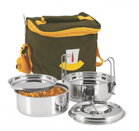 Pepperfry: Buy Nano 9 Insulated 2pc Clip Tiffin Box at 389 Rs