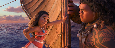 Auli'i Cravalho and Dwayne Johnson in Moana