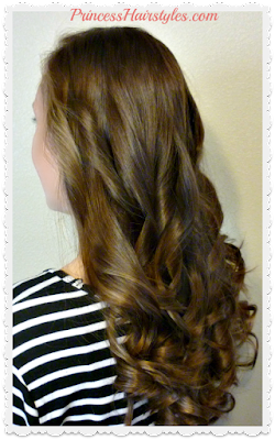 Curling your hair with a straightener, step by step.