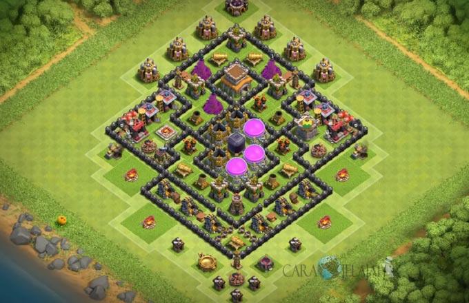 Base Hybrid TH 8 Clash Of Clans Terbaru Tipe 16