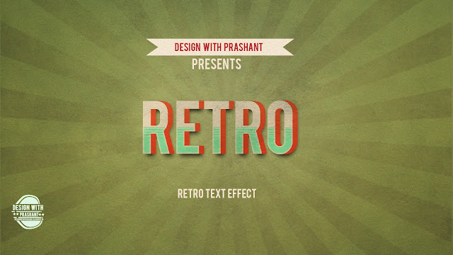 RETRO TEXT EFFECT PHOTOSHOP | DESIGN WITH PRASHANT