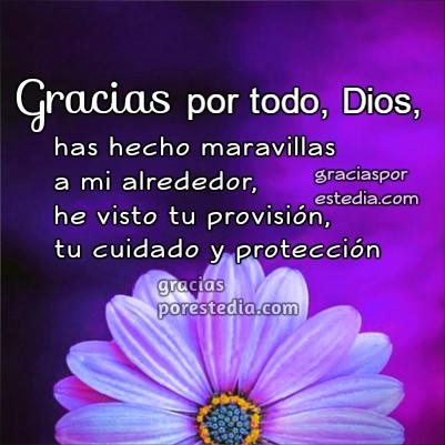 Bonitas imágenes con frases de agradecimiento a Dios, gracias a Dios por todo, tarjetas y frases por Mery Bracho
