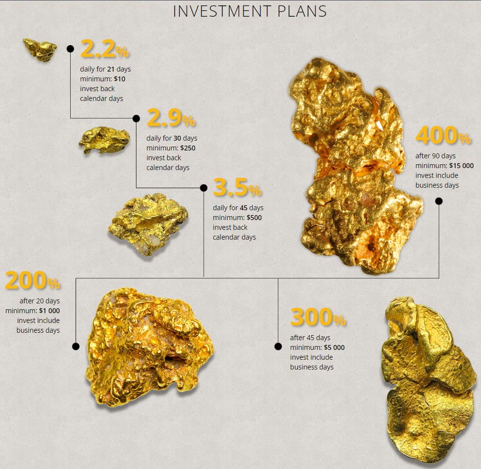 Инвестиционные планы LakeLand Gold