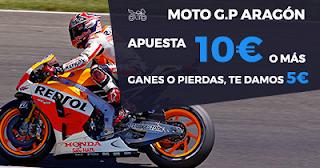 Paston promoción 5 euros ganes o pierdas MotoGP Aragón 24 septiembre