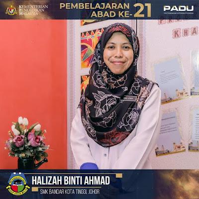 Guru Adiwira PAK21: Cikgu Halizah binti Ahmad [SMK Bandar Kota Tinggi, Johor]