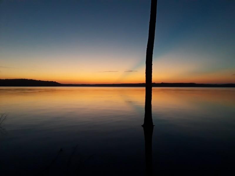 coucher de soleil Falls Lake