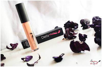 Makeup Defa Cosmetics , liquid lipstick, lip gloss, lucidalabbra, peach, color pesca