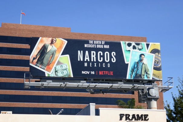 Narcos Mexico TV billboard