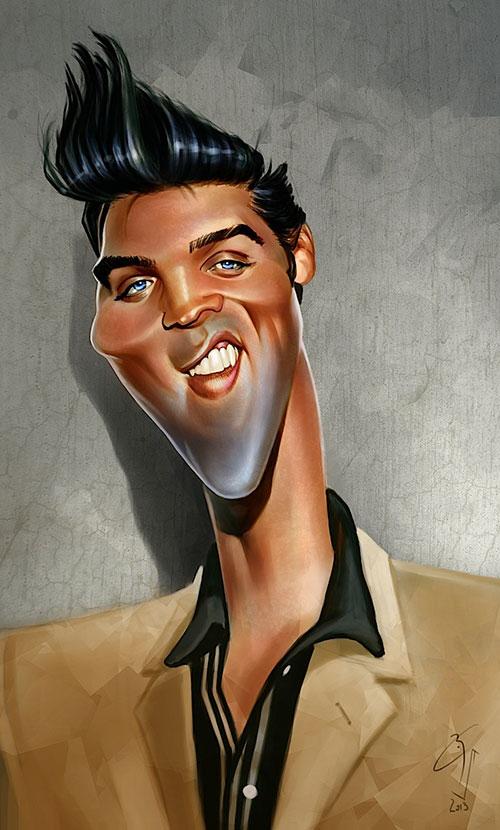 """""""Elvis Presley"""" por Bogdan Covaciu"""