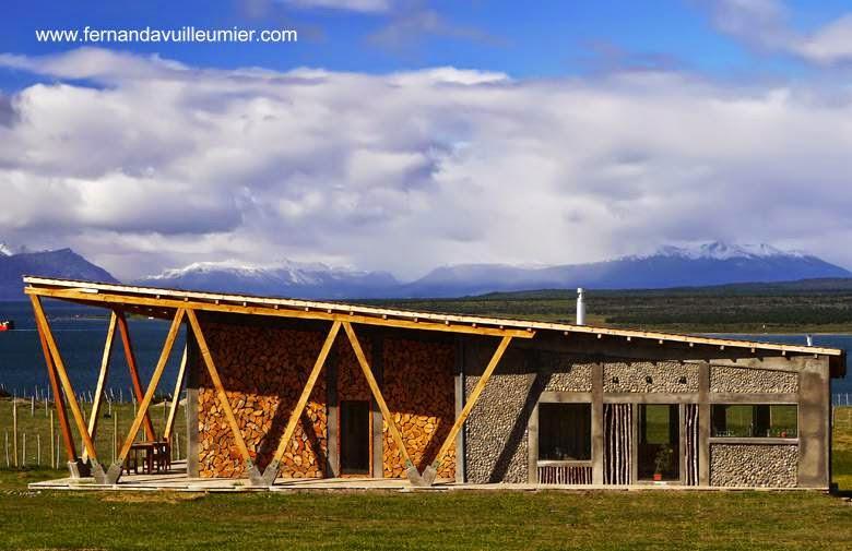 Casa de campo tipo cabaña contemporánea en Puerto Natales Chile