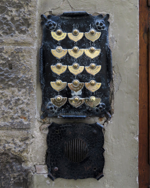 Old fashioned door bells, Borgo Santi Apostoli, Florence