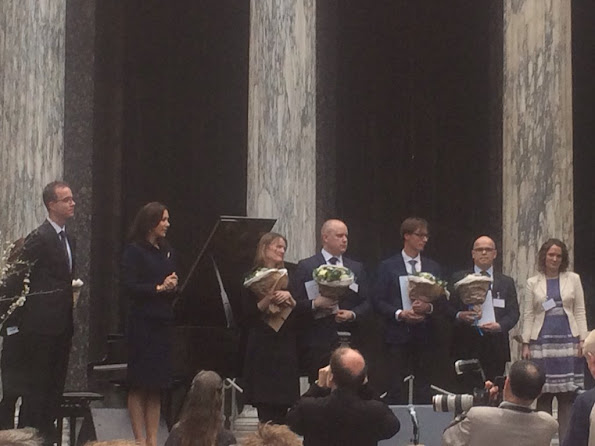 Crown Princess Mary of Denmark presents the awards for Elite Research (EliteForsk) at a ceremony at the Glyptoteket Art Museum in Copenhagen
