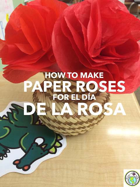 How to Make Tissue Paper Roses for el Día de la Rosa & Sant Jordi