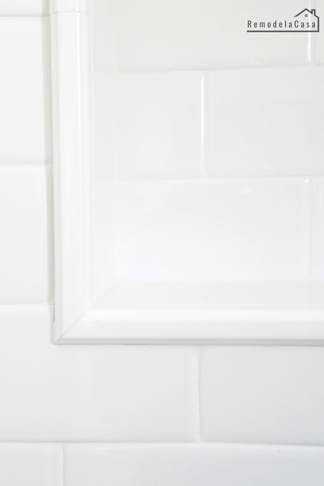 how to install subway tile on wall niche