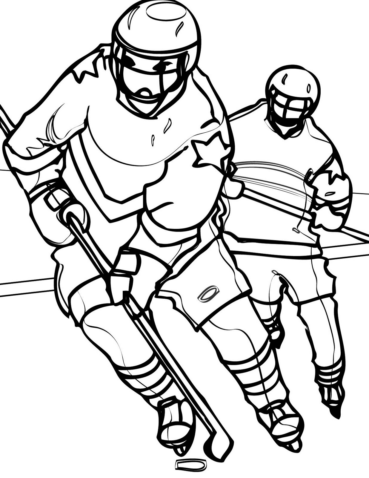 nhl printable coloring pages - photo#49