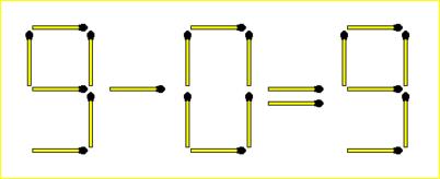 2 Matchsticks Equation Puzzle