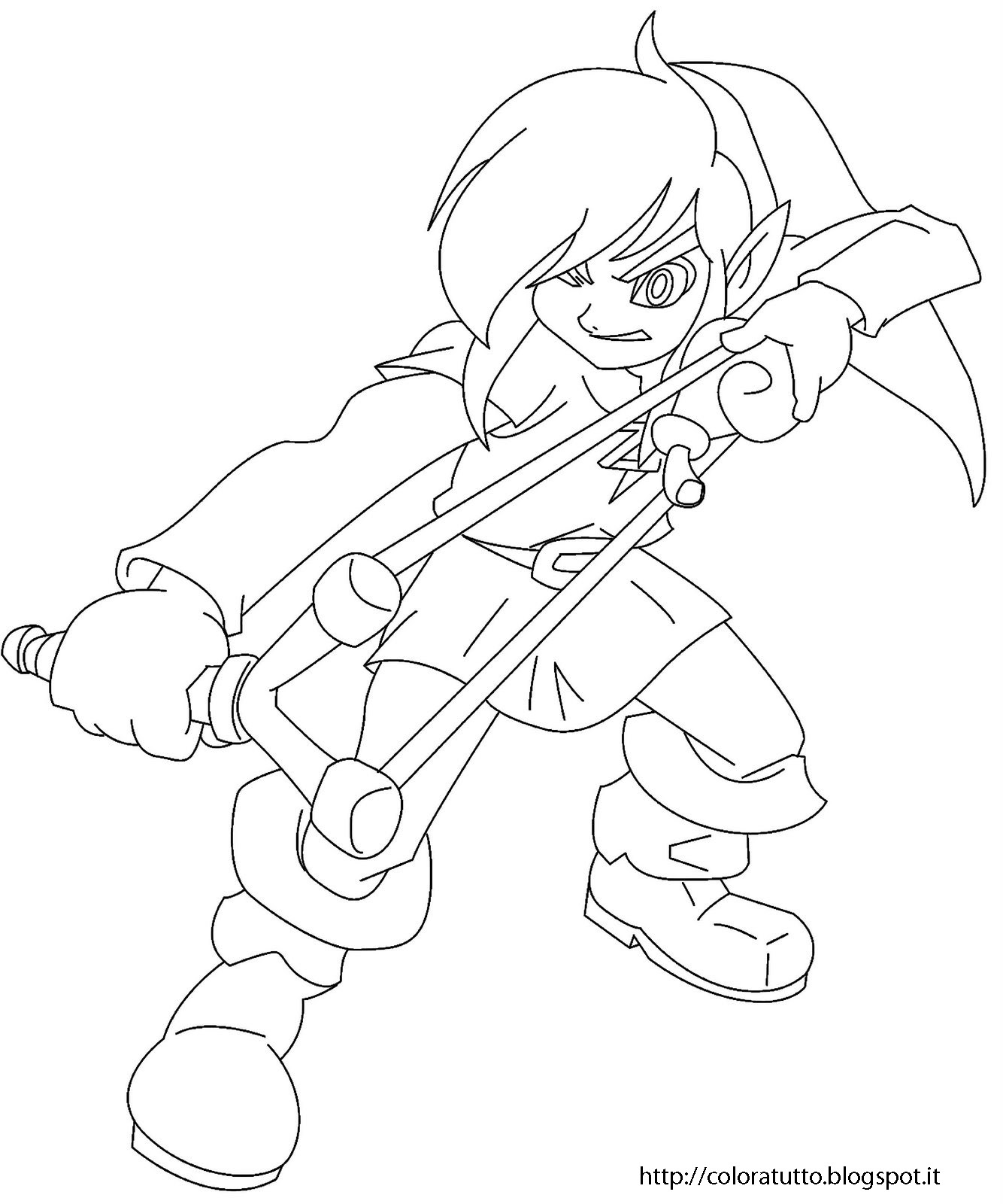 Zelda Disegno Da Colorare N2