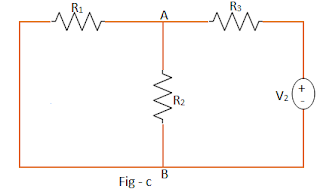 Equivalent circuit of superposition theorem