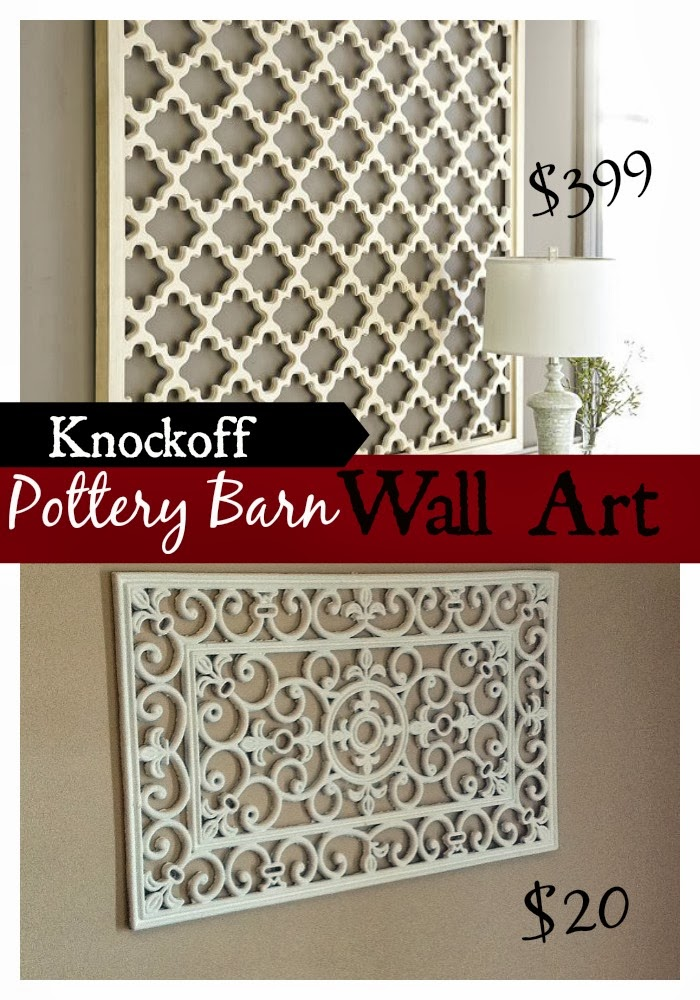 Two It Yourself: Door Mat Wall Art: Pottery Barn Knockoff