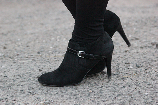 Nine West Black Suede Heeled Booties | Will Bake for Shoes